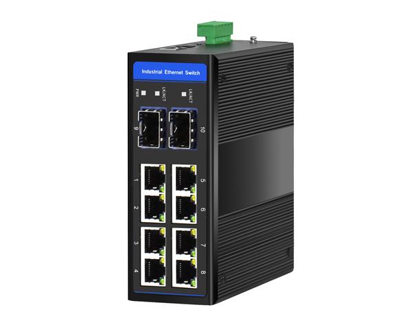 宣合工业环网2光8电全千兆工业以太网交换机 IP40防护等级