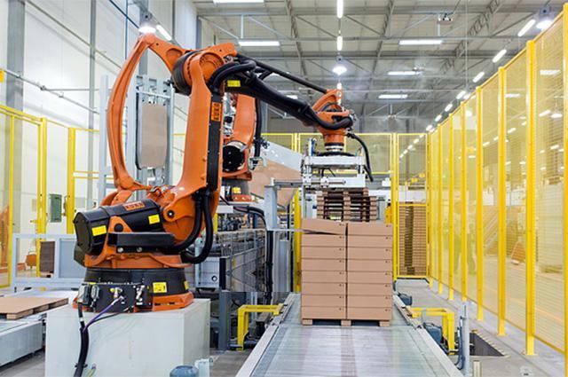 华北工控嵌入式计算机,助力码垛机器人系统在仓储物流业大行其道