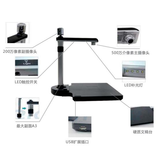 人脸识别高拍仪 证件扫描高拍仪620型 人证身份证高拍仪