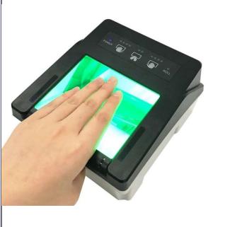 华思福高质量活体指纹采集仪 四连指指纹采集器
