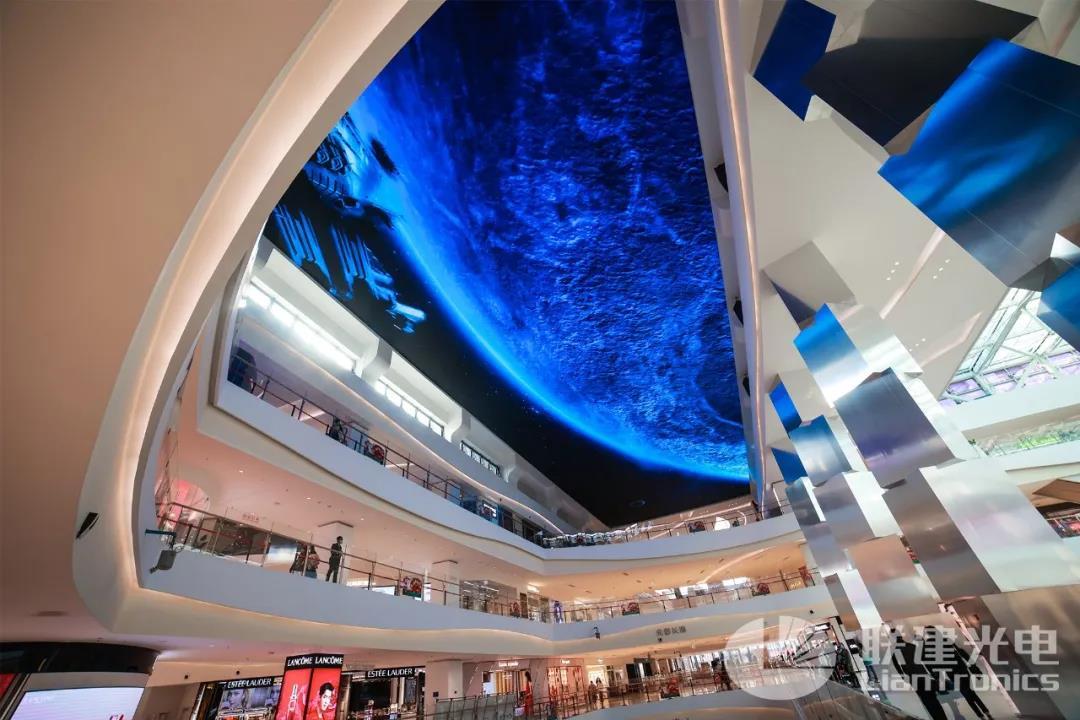 全国罕见!联建光电裸眼3D巨型天幕创意来袭